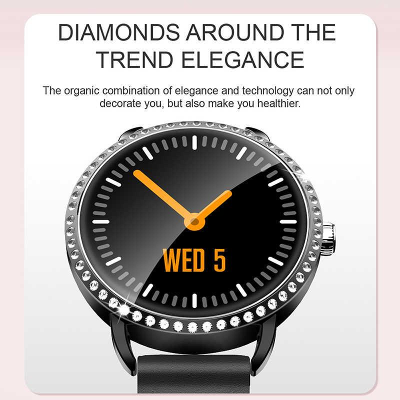 LIGE 新 1.0 インチファッション女性スマート腕時計メンズ防水心拍数モニターのカロリースマートウォッチ女性アンドロイド Ios iPhone