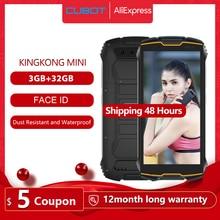Cubot KingKong MINI Rugged Phone 4″ QHD+ Screen Waterproof 4G LTE Dual-SIM 3GB+32GB Android 9.0 Rear Camera 13MP Real MINI Phone