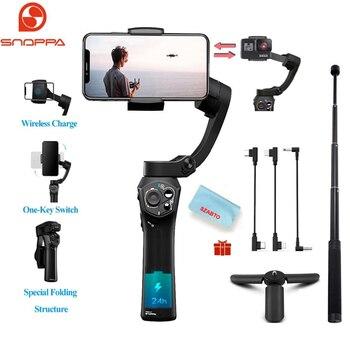 Snoppa Atom 3 osi składany kieszonkowy wielkości ręczny Gimbal stabilizator 310g ładunku do kamery GoPro Hero 4 5 6 Smartphone i bezprzewodowy Cha