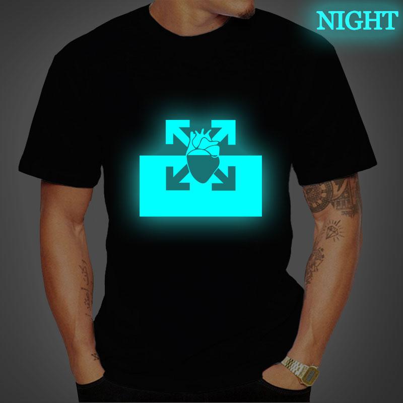 PNL Au DD Hip Hop T Shirt Luminous Mens Summer Short Sleeve Cotton T Shirts Men Casual Tee Tops Streetwear T Shirt Plus Size 4XL