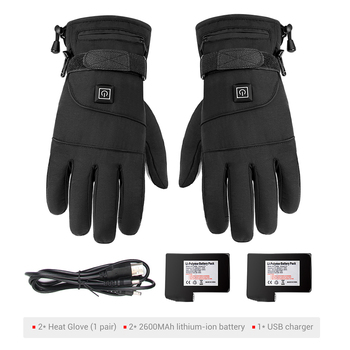 Waterproof Motorcycle Gloves Heated Guantes Moto Heating USB Hand Warmer Electric Thermal Heated Gloves Battery Powered Gloves 9