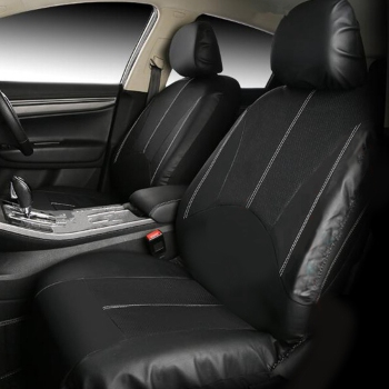Car Leather Seat Cover Cushion Front 2 Seat for Most Cars for Vw Citroen Renault Nissan Ford Breathable High Quality 118 x 56 cm image