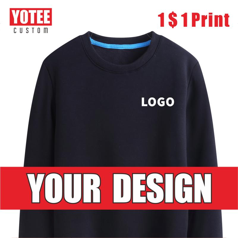 YOTEE autumn and winter thick trend round neck  LOGO custom sports men and women casual sweatshirt