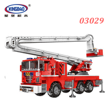 XINGBAO NEW 03029 City Series The Elevating Fire Truck Set Building Blocks Aerial Ladder Bricks Compatible Legoings