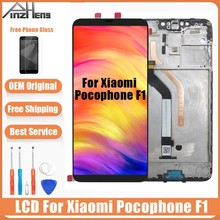 AAAA Original LCD For Xiaomi Pocophone F1 Display Screen Poco 2246*1080 Resolution With Frame
