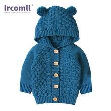 Вязаное детское пальто ircomll Детский свитер на осень и весну
