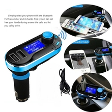 Bluetooth Car Charger Cigarette Lighter Wireless FM Transmitter 2-Port USB MP3 transmitter 2 port usb charger audio playe