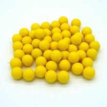 0.68x100 calibre reusável riot paintballs novo reutilizável bolas de treinamento de borracha paintball pvc material bolas de pintura elástica