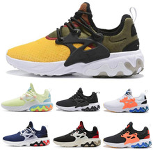 2019 React Presto Men Women Running Shoe Desig Psychedelic Lava Yellow Brutal Ho