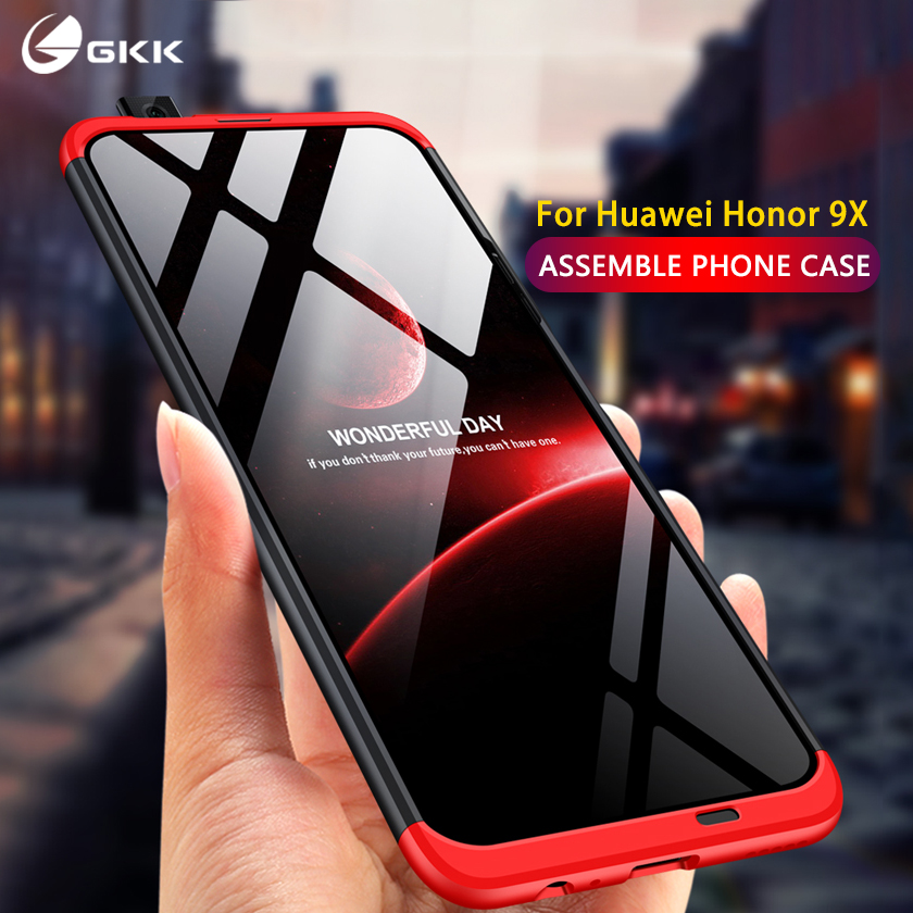 GKK Original Case For Huawei Honor 9X Pro Case 3 In 1 Full Protection Hard PC Anti-knock For Huawei Honor 9X Pro Cover Fundas