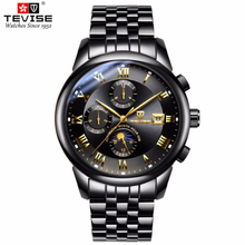 New Watches Men Luxury Brand TEVISE Mult
