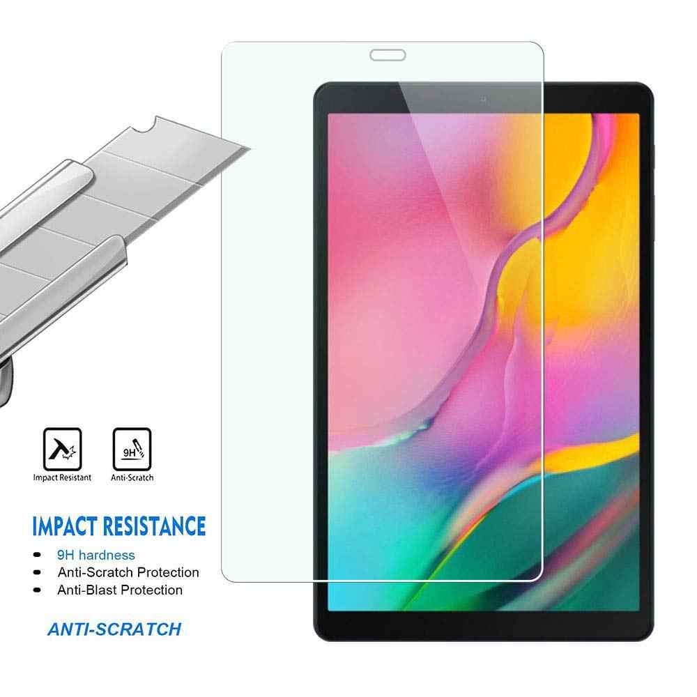 Tempered Glass Case untuk Samsung Galaxy Tab 10.1 Inci 2019 SM-T510 Tablet Pelindung Layar untuk Samsung SM-T515 Kaca Tempered film
