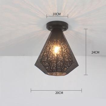 Ceiling lights Minimalist Retro Ceiling Lamp Glass E27 industrial decor  lamps for living room Home Lighting Lustre Luminaria 13