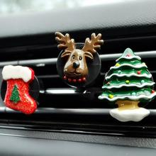 Car Air Outlet Perfume Santa Claus Cars Freshener Ornament Conditioning Clip Decor