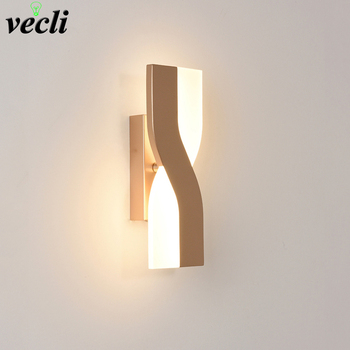 Modern Minimalist bedside Wall Lamps Living Room Bedroom Nordic rotatable led wall Sconce background Aisle Lighting decoration