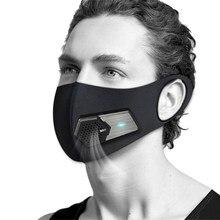 Masque facial électrique intelligent purifiant l'air, avec accessoires, filtre à Valve électrique pour adultes