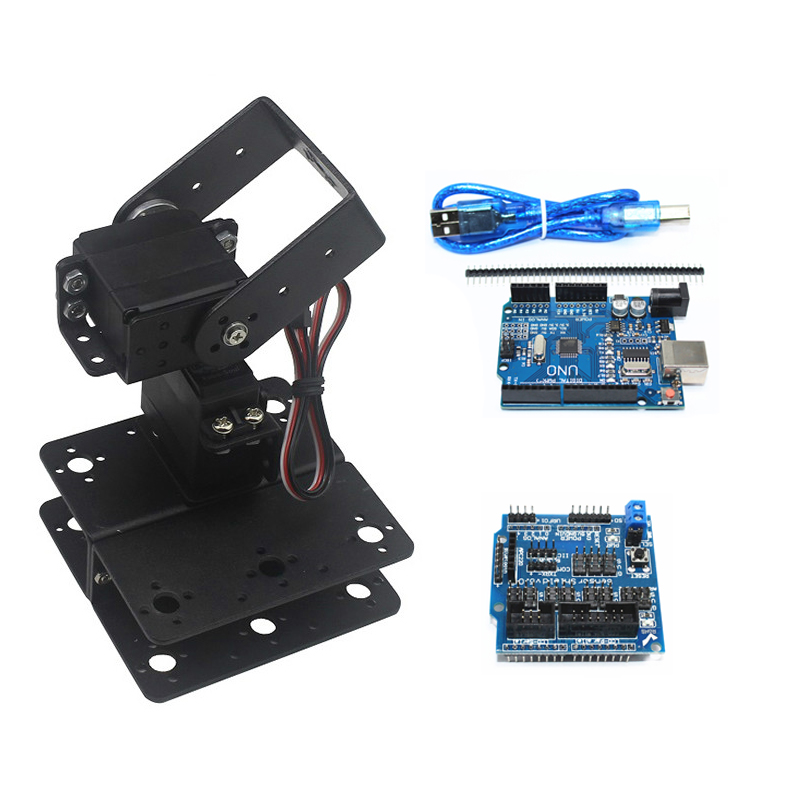 2 Dof Controllable Electric Pan/Tilt Manipulator Horizontal And Vertical Rotation Robotic Smart Car Diy Dedicate