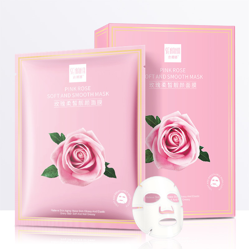 Rose Facemask Moisturizing face masks Whitening Wrapped Mask Tender Skin Oil-control Hydration Mask skin care