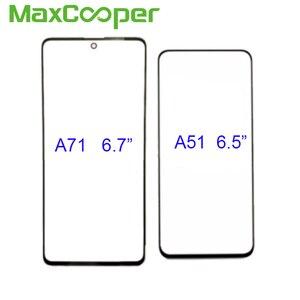 Image 2 - 10 Teile/los Top Qualität Für Samsung A31 A315 A41 A415 A51 A515 A71 A715 Vor Äußeren Glas Len Touchscreen panel Ersatz