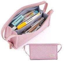 Angoo Dual-seite Griff Bleistift Tasche Pen Fall Große Tragbare Lagerung Beutel Handtasche für Schreibwaren Schule Student Travel Büro f989