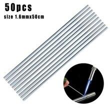 Абсолютно и высококачественный 50 шт 1,6*500 мм низкотемпературная сварочная проволока алюминиевый электрод флюс сердечник набор