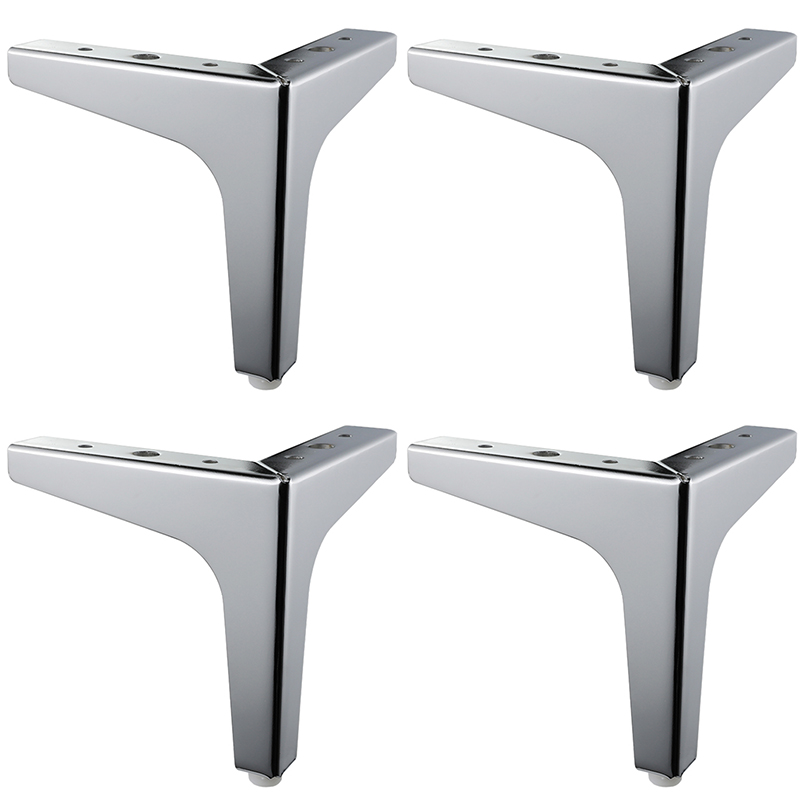 4 Pieces Of Triangular Metal Furniture Legs Support Silver Coffee Table Legs Sofa Legs Furniture Accessories Foot Bed Riser