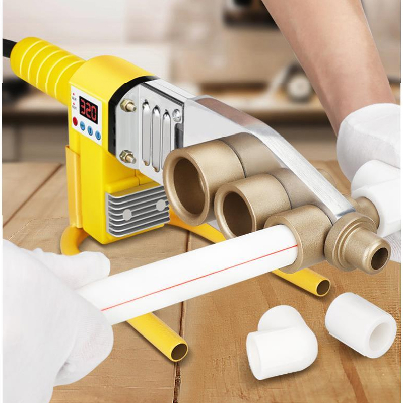 Tools : 1Set Digital Display Water Pipe Welder     20-63mm Water Pipe Plastic Welder Machine Plumber Heating PPR RPV Butt Welding 800W