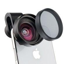 ULANZI, lente de teléfono gran angular HD de 16mm con filtro de lente de cámara CPL, Universal para iPhone, Samsung, Android, HUAWEI y Smartphone