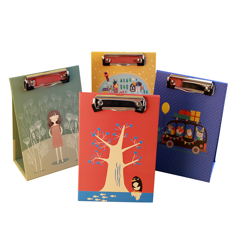 Flower-style A4 A5 Office Folder Board For Vertical Writing Fancy Office Document Vertical Splint  Used For A4 A5 Size