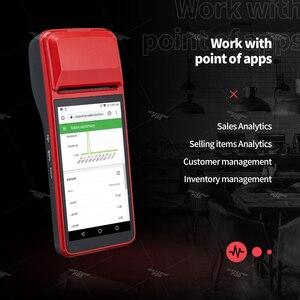 Image 4 - Ручной КПК ISSYZONEPOS, с 1D сканером штрих кода, КПК 4G, Wi Fi, с камерой, чековый принтер для мобильного заказа
