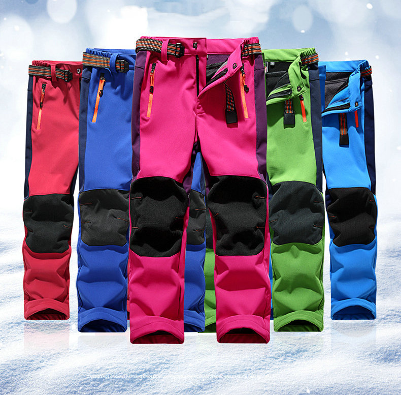 Wholesale CHILDREN'S Technical Pants BOY'S Girls Outdoor Soft Cover Pants Genuine Product Waterproof Warm Teenager Climbing Pant
