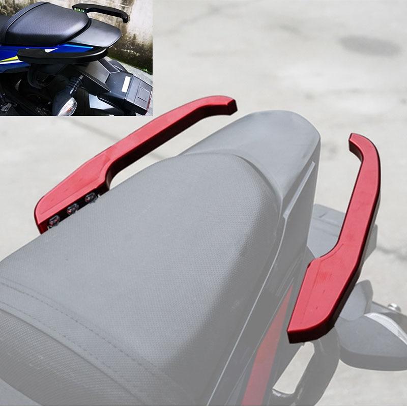 Red EasyGO Motorcycle Passenger Handgrips Hand Grip Tank Grab Bar Handles Armrest for Suzuki GSX-250R GSX-R600 GSX-R750 GSX-R1000 GSX-R 750