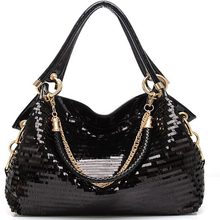 Extravagance Fashion New Style Sequin Patent Leather WOMEN'S Bag High-End Korean
