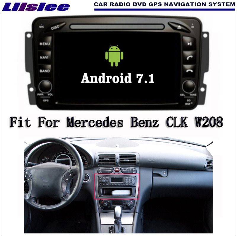 Liislee Android 7.1 2G RAM For <font><b>Mercedes</b></font> Benz CLK <font><b>W208</b></font> <font><b>Car</b></font> <font><b>Radio</b></font> Audio Video Multimedia DVD Player WIFI DVR <font><b>GPS</b></font> Navi Navigation image