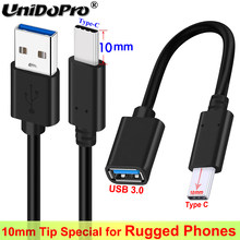 10mm Long Type C Tip Fast Charger Cable for Ulefone Armor 11 10 5G 9 9E X8 8 7E 7 6S 6E 6 5 3WT 3W 3T Power 6 5S 3S Note 9P 11P