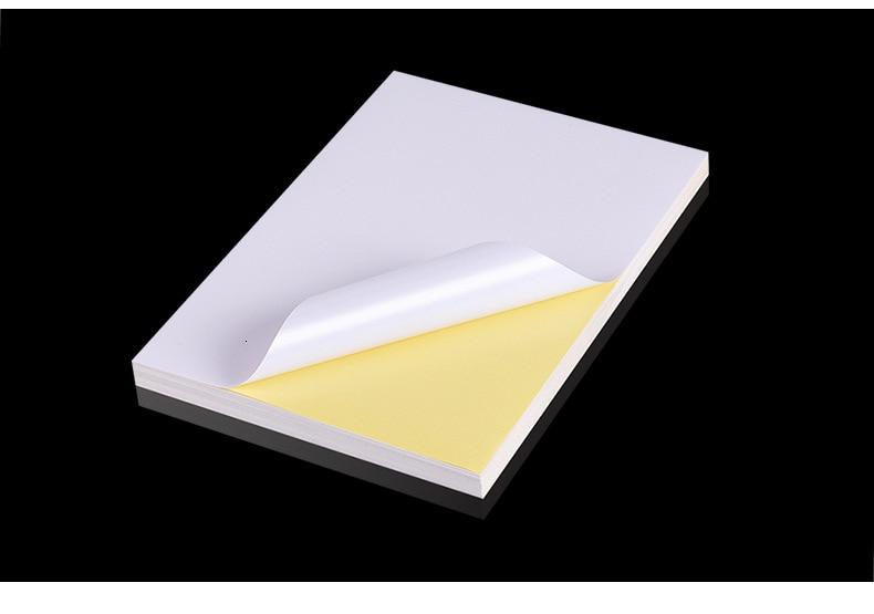 Купить с кэшбэком 100 Sheets A4 200sheets A3 Laser Inkjet Printer Copier Craft Paper White Self Adhesive Sticker Label Matte Surface Paper Sheet