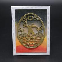 Easter bunny Metal Cutting Dies for Scrapbooking Photo Album Embossing DIY Paper Cards Making Decorative Stencil Craft