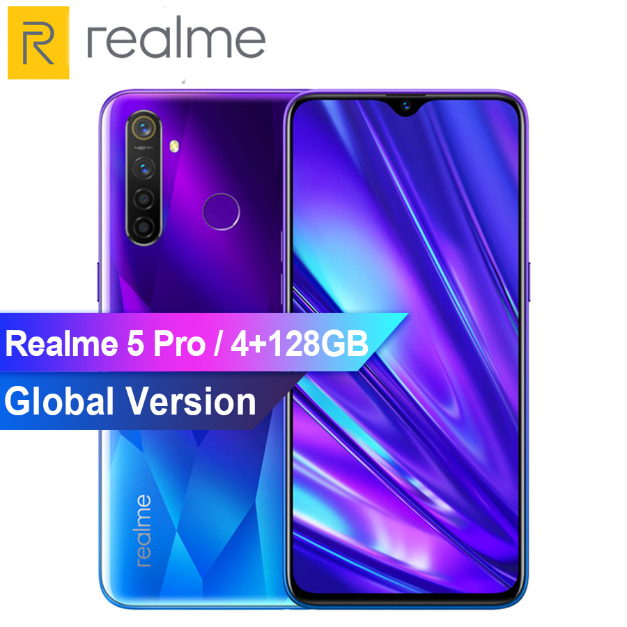 VOOC Fast Charger Mobile Phone Realme 5 Pro 8GB RAM 128GB ROM 6.3
