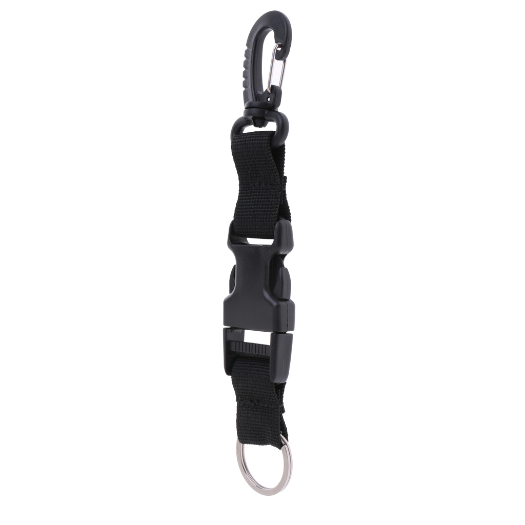 Scuba Diving Webbing Lanyard Strap Free Diving BCD Clip Gear Accessories