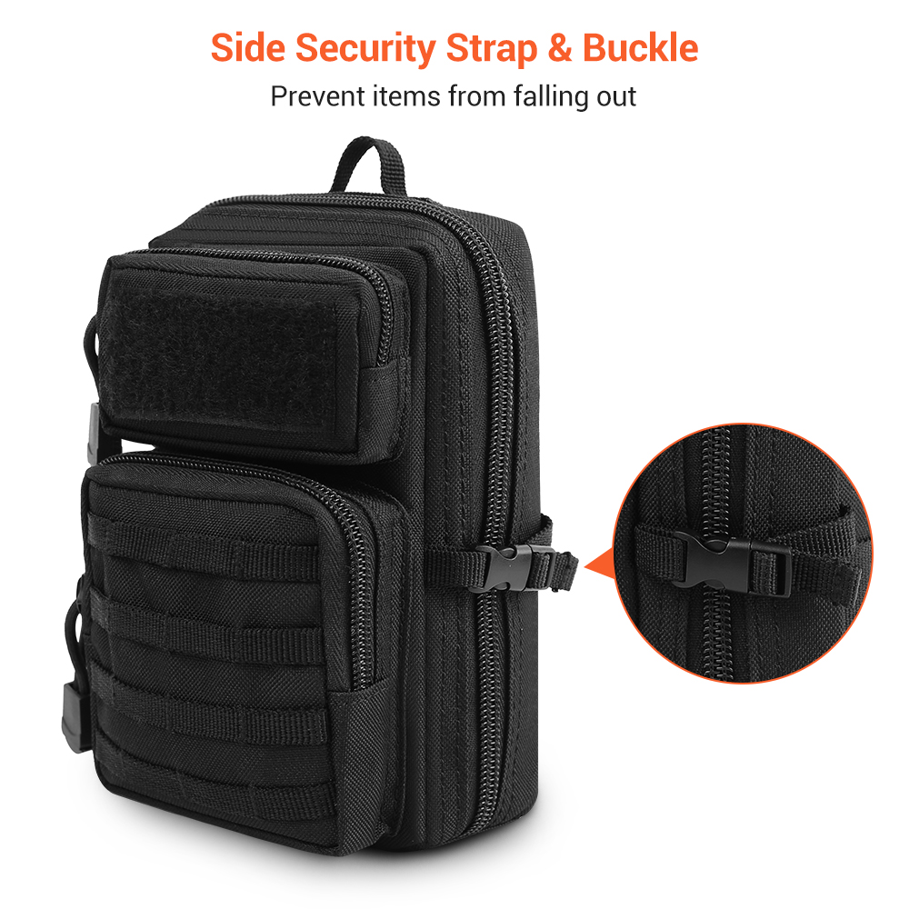 1000D Tactical Molle Pouch Shoulder Bag Waist Belt Bag Wallet Pouch Phone Case Outdoor Utility EDC Tool Pouch Hunting Pack