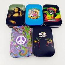 Новинка 1 шт модная жестяная коробка для хранения табака хьюмидора