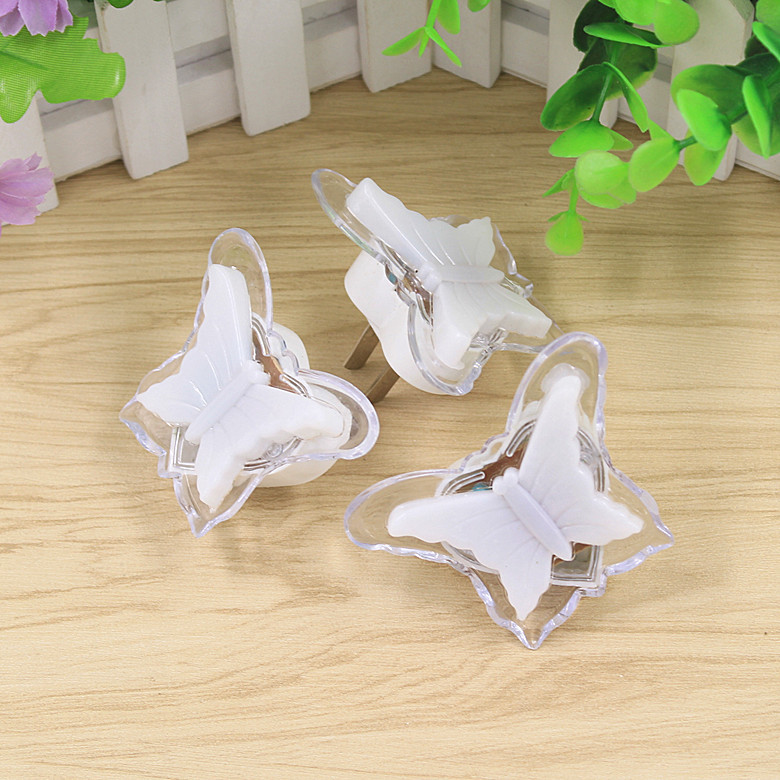 EU/US Plug LED Butterfly Night Light For Christmas/Valentine Decoration Emergency Use Home Bedside Lamp Cute Animal