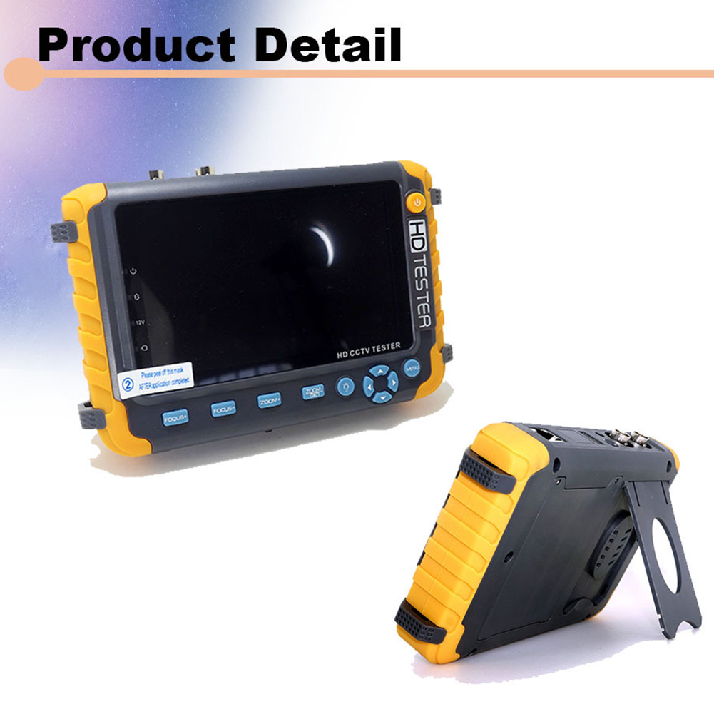 5 pouces sécurité CCTV testeur moniteur 5MP HD vidéo CVBS LCD affichage caméra analogique Mini TVI Audio AHD CVI HDMI