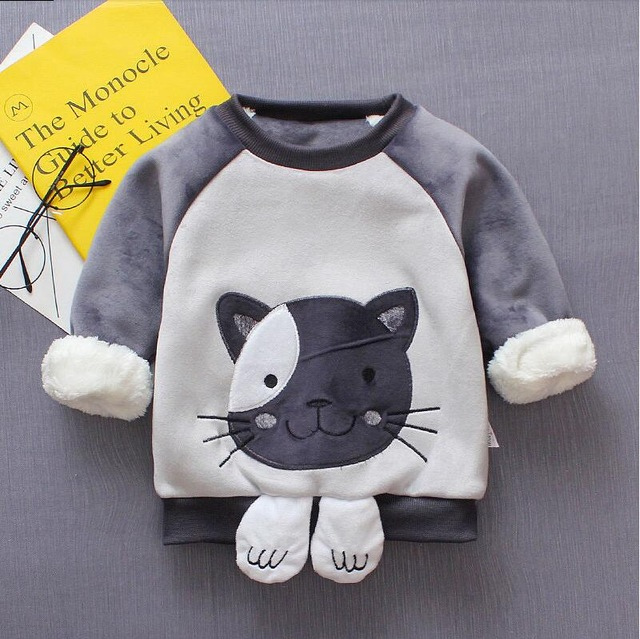 BibiCola Baby Girls Sweaters Winter 2020 New Toddler Long Sleeve Clothes Kids Cartoon Sweater For Girls and Boy Christmas cloth 4