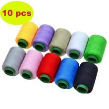 Linhas de costura fortes e duráveis ajustadas da linha do poliéster da linha de costura para máquinas da mão