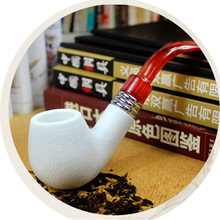 Imitation Sepiolite Resin Smoking Pipe Tobacco Smoke Removable and Washable Filter Accessories