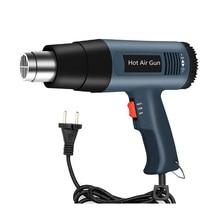 2000W 220V Electric Industrial Grade Heat Hot Air Gun Stepless Adjustable Hair Dryer Soldering Car Film Tool