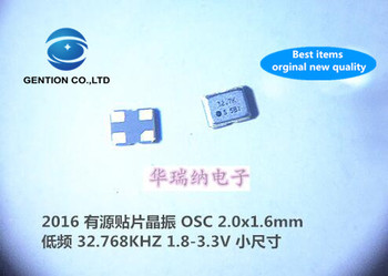 10pcs 100% orginal new OSC 2016 Active SMD crystal oscillator 32.768K 32.768KHZ low frequency small size 4 feet original