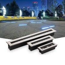Nuevo LED luz subterránea para suelo de exteriores para jardín luz escaleras LED lámpara enterrada empotrada Pared de patio lavadora AC85-265V 12V IP67