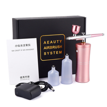 Dual Action Airbrush Kit Compressor Portable Air Brush Paint Spray Gun Deep Hydrating Sprayer For Nail Art Tattoo Cake Makeup airbrush spray gun mini air compressor kit portable bt16 sprayer makeup for cakes manicure temporary tattoo art painting tool